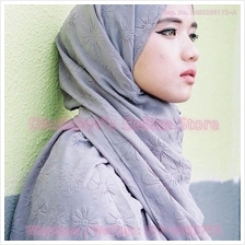 [DindabyV] ANNDA Design Flower Floating Design Shawl CQ9966AT