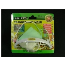 SELLERY 39-419 Transparent Sanitary Food Mask; Anti-Fog