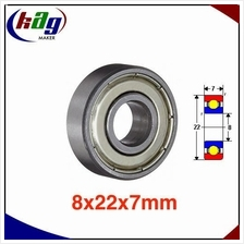 608ZZ 8x22x7mm ABEC1 Thin-wall Shielded Deep Groove Ball Bearing