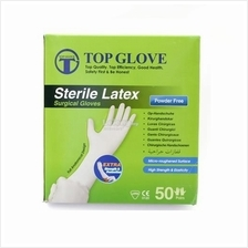 TOP GLOVE STERILE SURGICAL GLOVES POWDER FREE 50 PAIRS