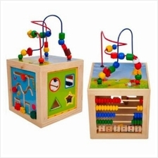 Montessori Bead Maze Learning Board Wooden Toy