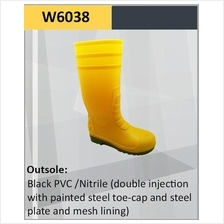 Hercules Safety Shoes Steel Plate Steel Cap Safety Rain Boot