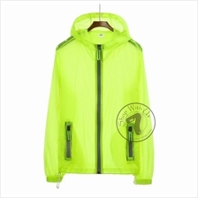 Unisex Winds Breaker with Reflective Zips