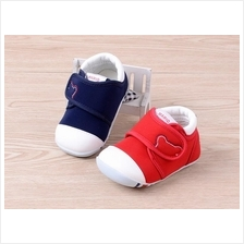 Baby Toddler Kids Cute Cartoon Cotton Walking Shoes - Blue / Red