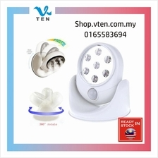 Wireless Motion Sensor Activated White LED 360 Rotation LED Light