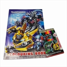 TRANSFORMERS 5 TLK COLORING BOOK WITH COLOUR PENCILS SET
