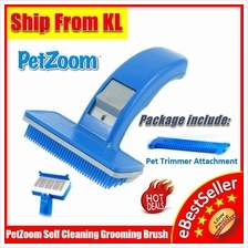 PetZoom Pet Zoom Dog and Cats Comb Bath Cleaning Grooming Brush