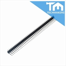 40 Pin Male Single Row Break Away Pin Header Pitch Right Angle