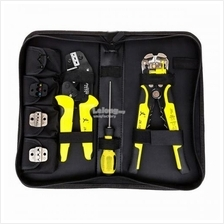 Multifunctional Ratchet Crimping Tool Wire Stripper Terminal Plier Kit