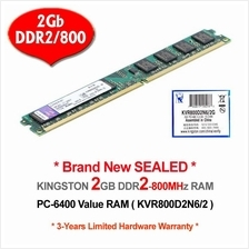 KINGSTON DDR2-2Gb/800 PC-6400 DESKTOP PC RAM Memory