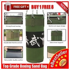 Heavy Duty Gym MMA Martial Boxing Punching Sand Bag 70 80 100CM 120CM