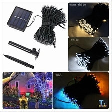 Solar Led String Lamps 12M 100LEDs Decorative Lights Waterproof Garden