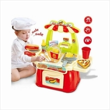 Fast Food Kitchen Light + Sound Playset 1 - Roleplay Educational Toys