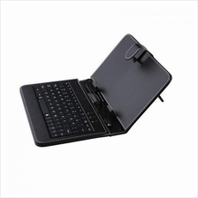 Casing with Keyboard for 9'Tablet-Leather Flip Case Stand (Micro USB)