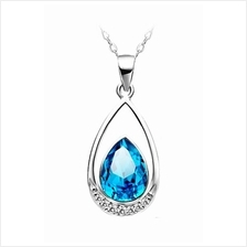 YOUNIQ Venice Tear 925 Sterling Silver Necklace with Cubic Zirconia