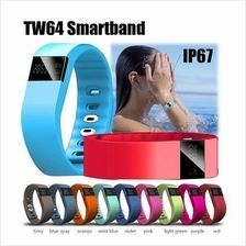 TW64 Bluetooth 4.0 Smart Bracelet Watch Sports Wristwatch Sedentary Re