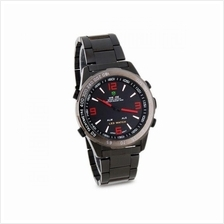 Weide WH1009 Dual Time LED Men's Watch Red Full Black
