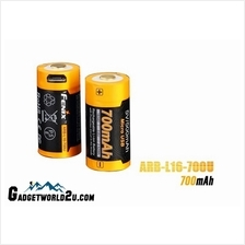 Fenix 16340 CR123 3.6V 700mAh Li-ion USB Rechargeable Battery