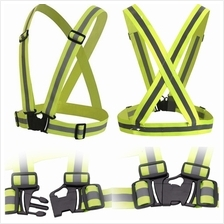 High Visibility Working Warning Waistcoat Outdoor Vest Harness Reflect..