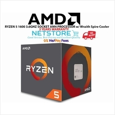AMD RYZEN 5 1600 3.6GHZ SOCKET AM4 PROCESSOR w/ Wraith Spire Cooler