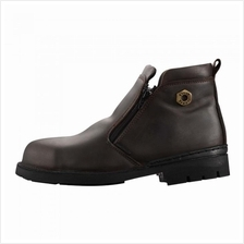 BLACK HAMMER BH4663 Mid cut Zip on Safety Shoes