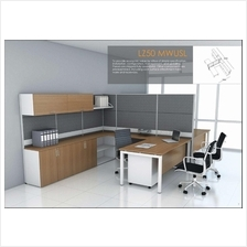 Cluster of 2 pax workstation ( office table, partition, pedestal) 1