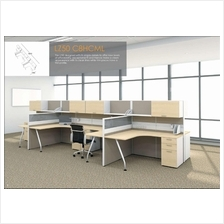 Cluster of 8 pax workstation ( office table, partition, pedestal) 1