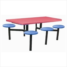 Food Court Table  6 Seaters (Fibreglass)