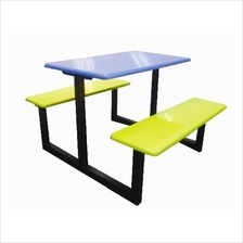 Canteen Table and Bench / Food Court (Fibreglass)