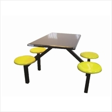 Food Court Table 4 Seater w/o Backrest