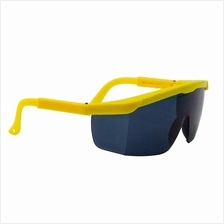 10 Pair 380B Safety Eyewear Smoke Grey Yellow Frame