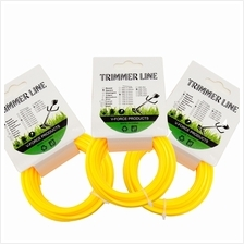 3 Roll Square 2.4mm x10 M Grass Trimmer LIne - Yellow