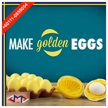 Golden Scrambler Egg Spinner Hand Power Shaker Maker