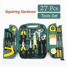 27 Pcs Hardware Tools Set Alloy Steel Repairing Tools Kit with Case