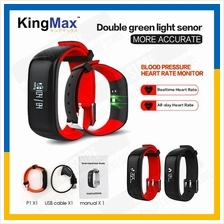 KingMax P1 Plus Smartband Blood Pressure Monitor Heart Rate Watch