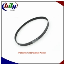 GT2 Timing Belt Closed Loop Perim:252mm Teeth:126 Width:6mm Pitch:2mm
