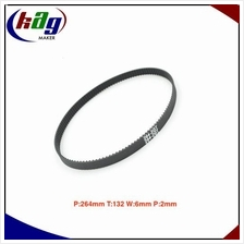 GT2 Timing Belt Closed Loop Perim:264mm Teeth:132 Width:6mm Pitch:2mm