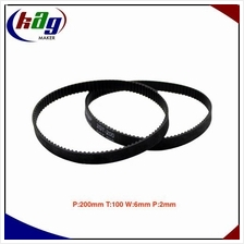 GT2 Timing Belt Closed Loop Perim:200mm Teeth:100 Width:6mm Pitch:2mm