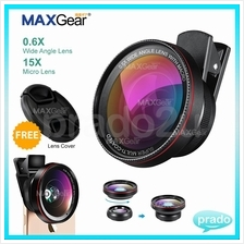 MAXGear 2 in 1 0.6X Wide Angle Micro Camera Clip Lens iPhone Any Phone