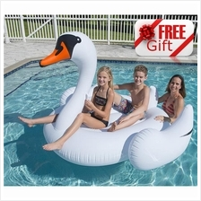 190cm White Inflatable Flamingo Giant Swan Swimming Pool Float Swim