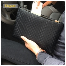 Men Elegant Synthetic Leather Clutch Bag (Design 1)