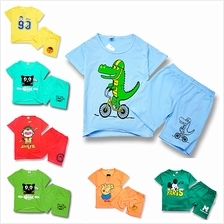 [Ready Stock] KIDS BOY COTTON FASHION SET (Shirt With Pant)- RS004