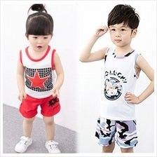 Kids Girl Boy Cotton Fashion Set (Singlet Set / Short Sleeve / T-shirt / Pants