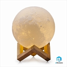 Night Light LED 3D Printing Moon Lamp Touch Control Brightness
