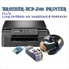 DCP J100 brother ( 3 in 1 )Inkjet  printer Plus Long Refillable Carts