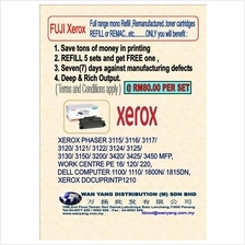 Xerox FULL range mono toner refill and remanufacture,