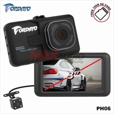 "FORDAYO JAPAN PH06 3"" 1080P Car Dash Camera with Rear Reverse Camera"