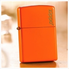 Orange Neon 28888zl with Logo Zippo Lighter