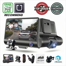 New 3 View Lens Car Camcorder DVR Dashcam Interior Front Rear View Le