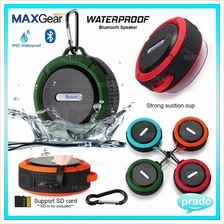 MAXGear Waterproof Sealed Bluetooth Wireless Speaker SD TF Card